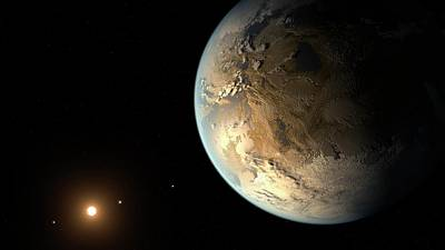 Extrasolar Planet Photograph - Kepler-186f by Nasa/ames/seti Institute/jpl-caltech