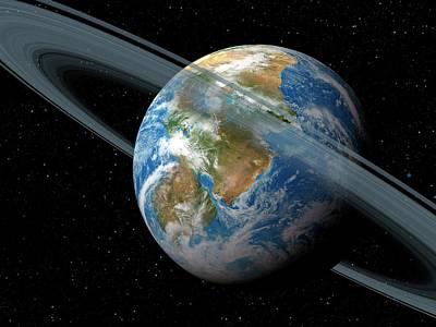 Extrasolar Photograph - Kepler-62f by Detlev Van Ravenswaay