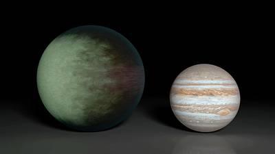 Body Map Photograph - Kepler-7b And Jupiter by Nasa/jpl-caltech/mit