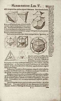 Geometrical Photograph - Kepler On Platonic Solids by Library Of Congress