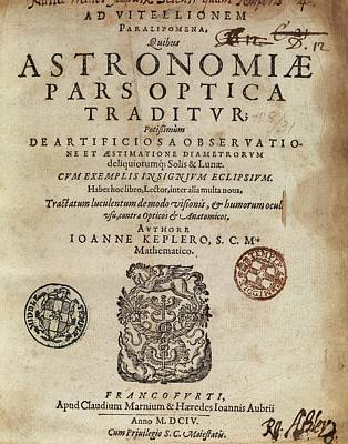 Book Mark Photograph - Kepler's 'astronomiae Pars Optica' (1604) by Middle Temple Library