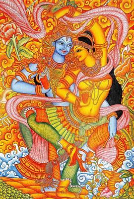 Kerala paintings fine art america for Asha mural painting