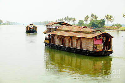 Photograph - Kerala Houseboats by Paul Cowan