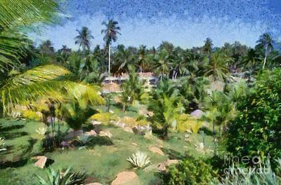 Painting - Kerala Landscape by George Atsametakis