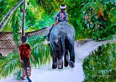 Painting - Kerala by Saranya Haridasan