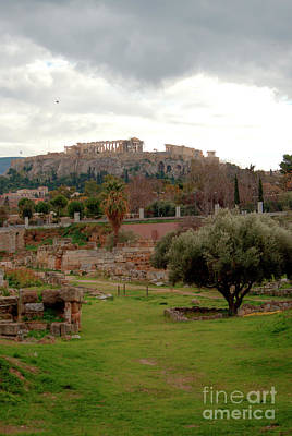 Photograph - Kerameikos Parthenon View by Deborah Smolinske
