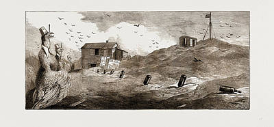Astronomical Art Drawing - Kerguelen Island, The Transit Of Venus Second English by Litz Collection