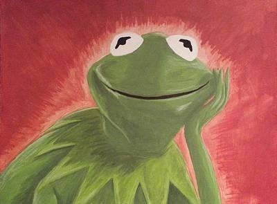 Frogs Painting - Kermit by Jason Kopczick