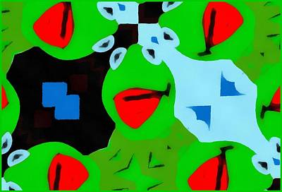 Frogs Mixed Media - Kermit The Frog Pop Art by Dan Sproul
