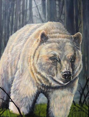 Kermode Painting - Kermode 'spirit' Bear  by Rayna DeHoog