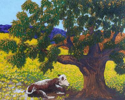 Painting - Kern County Cow by Katherine Young-Beck