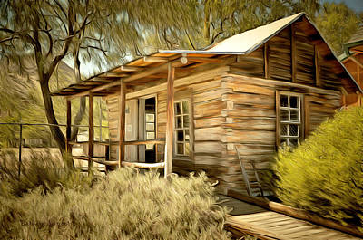 Miners Painting - Kern River Miners Cabin by Barbara Snyder