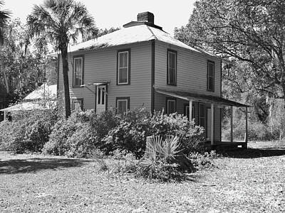 Photograph - Kerr City Home Black And White by D Hackett