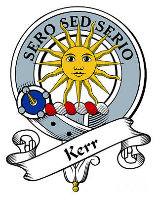 Kerr Clan Badge Art Print