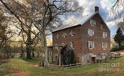 Kerr Grist Mill At Sloan Park Art Print by Adam Jewell