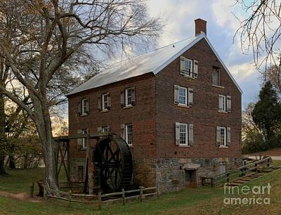 Kerr Grist Mill Closeup Art Print by Adam Jewell