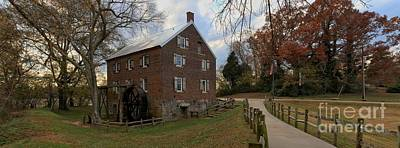Kerr Grist Mill Fall Panorama Art Print by Adam Jewell