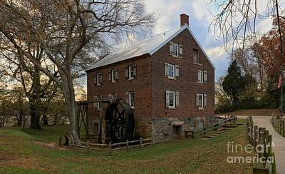 Kerr Grist Mill Sunset Art Print by Adam Jewell