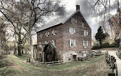Kerr Gristmill In North Carolina Art Print by Adam Jewell