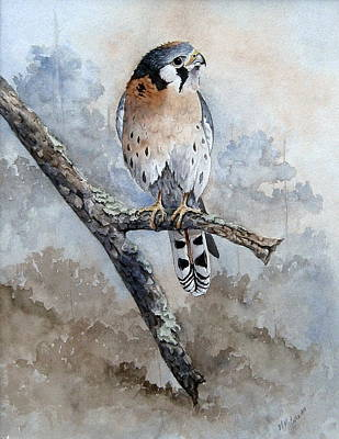 Painting - Kestrel Perch by Mary McCullah