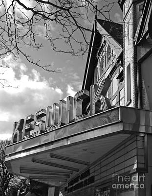 Keswick Theater Art Print by Val Miller