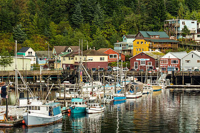 Ketchikan Harbor Art Print
