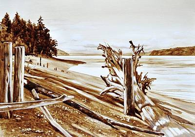 Painting - Ketron Island by Gertrudes  Asplund