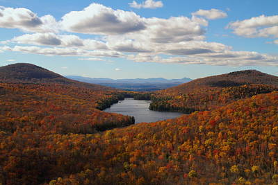 Kettle Pond At Owls Head In Autumn Art Print