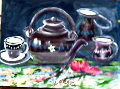 Painting - Kettle Set by M bhatt