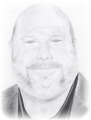 Kevin Chamberlin Portrait Art Print by Trevin  Nocent