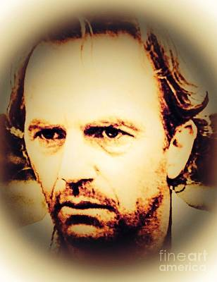 Kevin Costner Digital Art - Kevin Costner by Caroline Gilmore