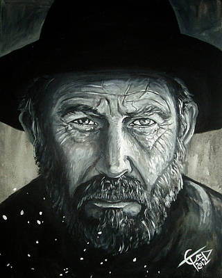 Kevin Painting - Kevin Costner - Hatfield by Tom Carlton