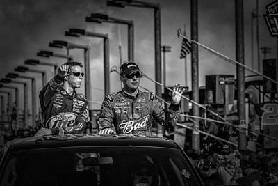 Kevin Harvick And Brad Keslowski Print by Kevin Cable