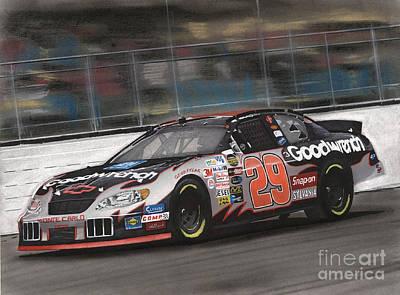 Kevin Harvick Racing Print by Paul Kuras