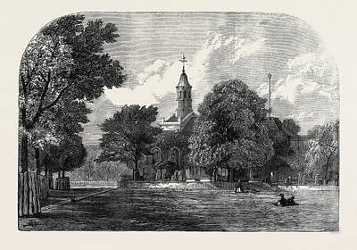 Cambridge Drawing - Kew Church Where Princess Mary Of Cambridge Was Married by English School