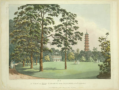 Alhambra Photograph - Kew Gardens Of The Alhambra And Pagoda by British Library