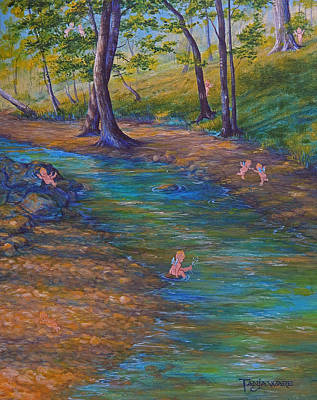 River Nymph Painting - Kewpies At Bonniebrook by Tanja Ware