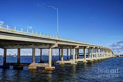 Key Biscayne Bridge Art Print