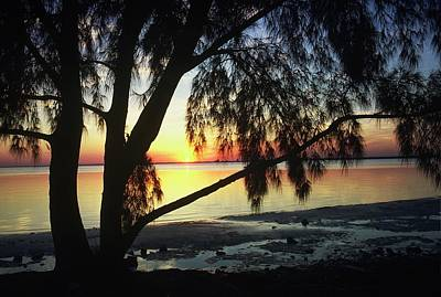 Photograph - Key Biscayne Sunset by Allen Beatty