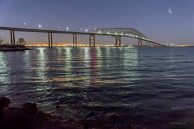 Key Bridge At Night Art Print