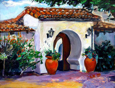 San Clemente Painting - Key Hole Archway 415 by Renuka Pillai