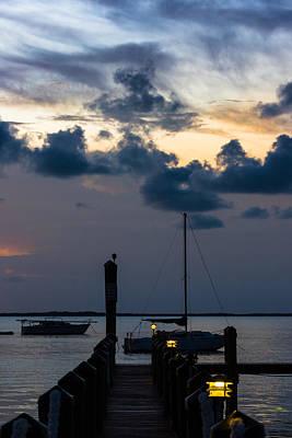 Photograph - Key Largo Bayside Dock by Ed Gleichman