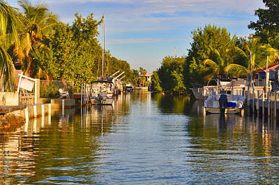 Key Largo Canal 2 Art Print by Chris Thaxter
