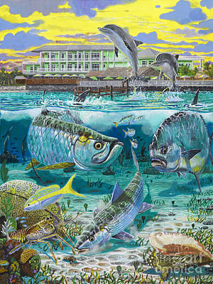 Anglers Painting - Key Largo Grand Slam by Carey Chen