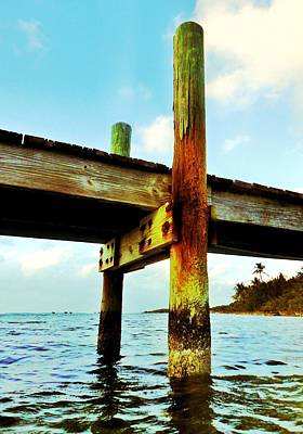 Photograph - Key Largo Pier by Benjamin Yeager