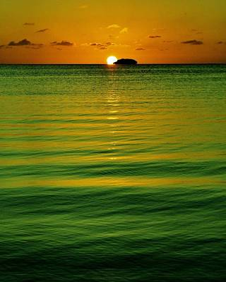 Photograph - Key Largo Sundown by Benjamin Yeager