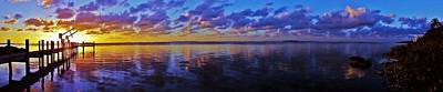 Photograph - Key Largo Sunset Panorama by Benjamin Yeager