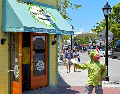 Photograph - Key Lime Pie Man In Key West by Janette Boyd