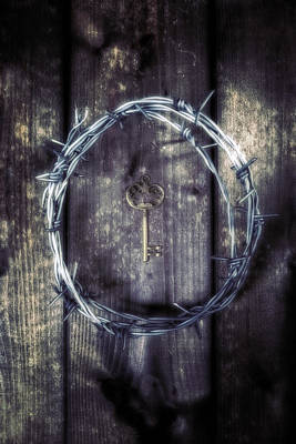 Barbwire Photograph - Key Of A Treasure Chest by Joana Kruse
