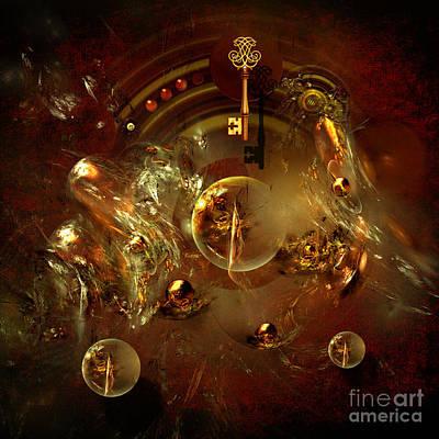 Digital Art - Key Of Secrets by Alexa Szlavics
